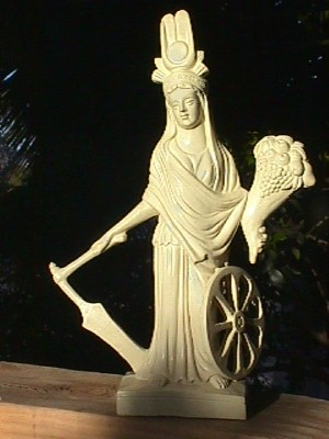Isis fortuna statue